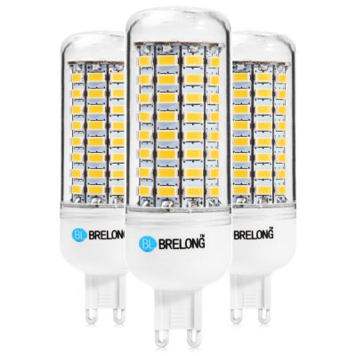 3PCS BRELONG 89 x SMD5730 8 - 9W 1800LM G9 LED Corn Bulb
