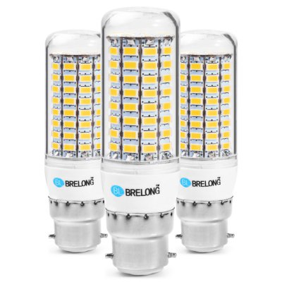 3PCS BRELONG 89 x SMD5730 8 - 9W 1800LM B22 LED Corn Bulb