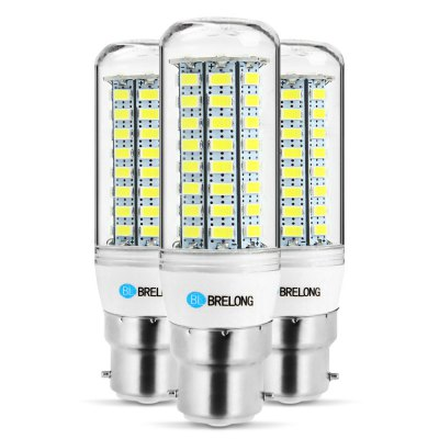 3PCS BRELONG B22 12W 1200Lm SMD 5730 LED Corn Light