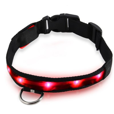 LED Light Point Pet Collar Red Light
