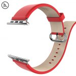 HOCO Classic Genuine Leather Watchband Strap Stainless Steel Buckle for Apple iWatch 42mm