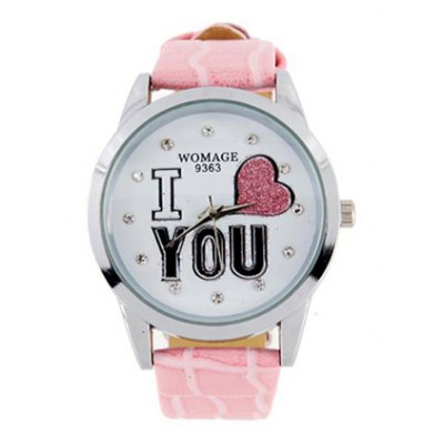 9363 Fahionable Eletronic Watch (Pink)
