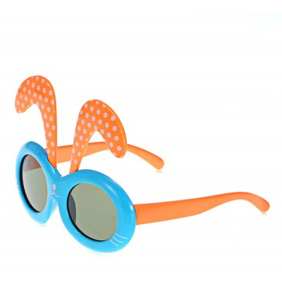 Oulaiou 2285 Children Polarized Sunglasses TR90 Silica Glasses with Rabbit Ears Pattern and Full - rim