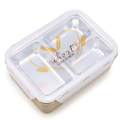 Wheat Fiber Double-deck Lunch Box