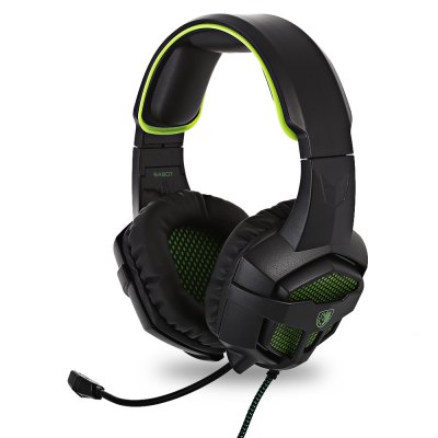 SADES SA - 807 Over-ear Gaming HeadsetEarbud Headphones<br>SADES SA - 807 Over-ear Gaming Headset<br><br>Application: Mobile phone, For iPod, Computer<br>Brand: Sades<br>Cable Length (m): 1.5 m<br>Color: Black<br>Compatible with: Computer<br>Connecting interface: 3.5mm<br>Connectivity: Wired<br>Driver unit: 40mm<br>Frequency response: 20-20000Hz<br>Function: Voice control, Answering Phone, Microphone, Noise Cancelling, Song Switching, Sweatproof<br>Impedance: 32ohms<br>Language: No<br>Material: Metal, ABS<br>Model: SA - 807<br>Package Contents: 1 x SA - 807 Over-ear Gaming Headset, 1 x 2-in-1 Audio Cable, 1 x Multilingual Operating Instruction ( English, Japanese, Spanish, German, Korean )<br>Package size (L x W x H): 22.00 x 16.50 x 10.50 cm / 8.66 x 6.5 x 4.13 inches<br>Package weight: 0.5020 kg<br>Product size (L x W x H): 20.50 x 15.00 x 9.50 cm / 8.07 x 5.91 x 3.74 inches<br>Product weight: 0.3280 kg<br>Sensitivity: 115 dB ± 3dB<br>Wearing type: Headband