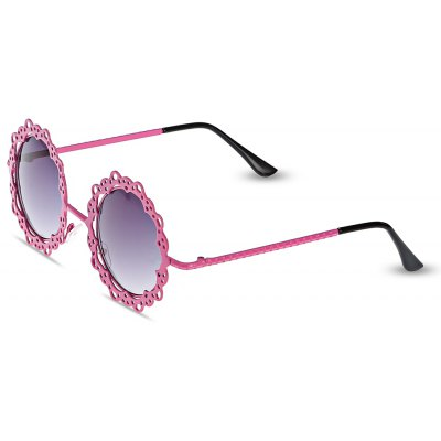 LOSE SHOW Women Anti-UV Sunglasses with Hollow Out Metal Lacework Frame