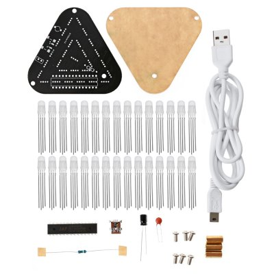 Touch Control RGB Full Color LED Triangular Pyramid Kit