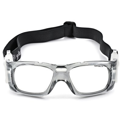 Professional Anti-shock Basketball Glasses Sports Safety Goggles Soccer Football Eyewear - Gray