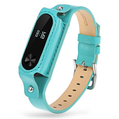 1.4cm Leather Short Strap for Xiaomi Miband 2