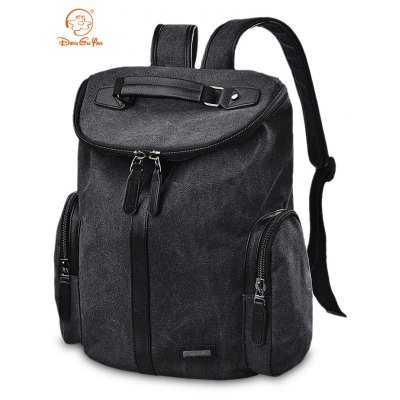 Douguyan 15.6 inch Backpack Canvas Laptop Bag