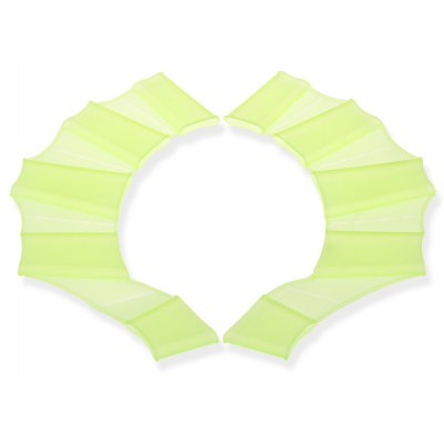 M Size Practical Silicone Frog Palm Swimming Fins Snorkeling Diving Webbed Gloves - Yellow