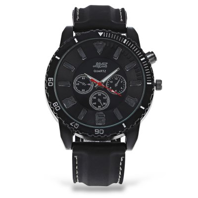 JIS Big Dial Men Quartz Watch Cool Flash Light Wristwatch