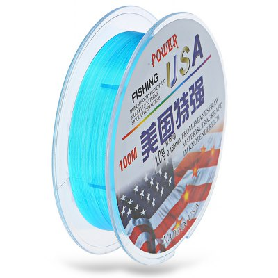 PE Braided Line Diameter 0.165mm Knot Strength 6.6kg 100m Fishing Line with Abrasion Resistant Design