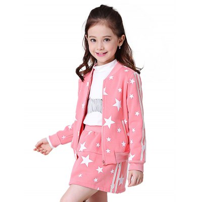 Liancaiyi Girls Dress Jacket Set