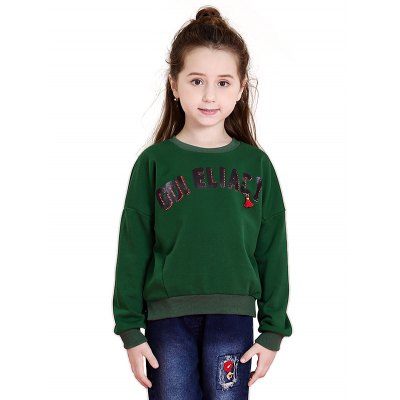 Liancaiyi Girls Letter Sweatshirt
