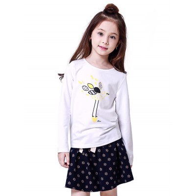 Liancaiyi Girls T Shirt Dress Set