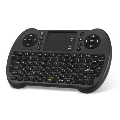 VIBOTON S501 QWERTY KeyboardAir Mouse<br>VIBOTON S501 QWERTY Keyboard<br><br>Battery Capacity (mAh): 800mAh<br>Brand: Viboton<br>Charging Time: 4 hours<br>Connection Type: 2.4GHz Wireless<br>Interface: Micro USB<br>Model: S501<br>Package size: 18.50 x 10.50 x 3.00 cm / 7.28 x 4.13 x 1.18 inches<br>Package weight: 0.1550 kg<br>Packing List: 1 x VIBOTON S501 QWERTY Keyboard, 1 x USB Receiver, 1 x English Manual<br>Powered by: 2 x AAA Battery<br>Product Features: Air Mouse, Ergonomic, Gaming, Remote Controller<br>Product size: 15.30 x 8.80 x 1.50 cm / 6.02 x 3.46 x 0.59 inches<br>Product weight: 0.1010 kg<br>Suitable for: Andriod TV Box, XBOX360, PS3, PC, Pad, iPod touch, HTPC, Google TV Box, Android TV, iPhone