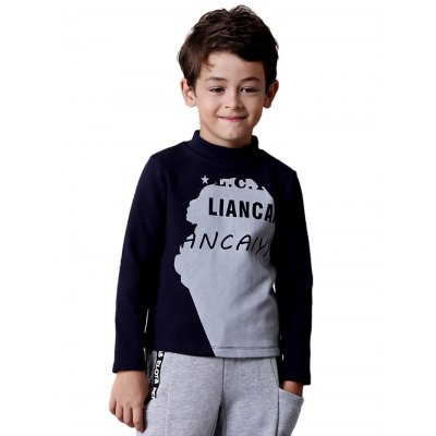 Liancaiyi Long Sleeve Boy T-ShirtBoys Clothing<br>Liancaiyi Long Sleeve Boy T-Shirt<br><br>Brand: Liancaiyi<br>Color: Blue,Gray<br>Fabric Type: Spandex, Polyester, Cotton<br>Material: Spandex, Polyester, Cotton<br>Neckline: Round Neck<br>Package Content: 1 x T-shirt<br>Package size: 35.00 x 4.00 x 27.00 cm / 13.78 x 1.57 x 10.63 inches<br>Package weight: 0.2900 kg<br>Pattern Type: Letter<br>Product weight: 0.2300 kg<br>Type: T-Shirt