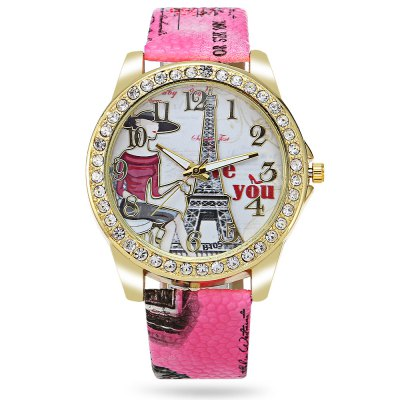 Geneva Female Tower Pattern Face Quartz WatchWomens Watches<br>Geneva Female Tower Pattern Face Quartz Watch<br><br>Band material: Leather<br>Band size: 24.50 x 2 cm / 9.65 x 0.78 inches<br>Brand: Geneva<br>Case material: Alloy<br>Clasp type: Pin buckle<br>Dial size: 4.50 x 4.50 x 0.80 cm / 9.65 x 1.77 x 0.31 inches<br>Display type: Analog<br>Movement type: Quartz watch<br>Package Contents: 1 x Geneva Watch<br>Package size (L x W x H): 25.50 x 5.50 x 1.80 cm / 10.04 x 2.17 x 0.71 inches<br>Package weight: 0.0700 kg<br>Product size (L x W x H): 24.50 x 4.50 x 0.80 cm / 9.65 x 1.77 x 0.31 inches<br>Product weight: 0.0380 kg<br>Shape of the dial: Round<br>Watch color: Lake Blue, Rose Madder, Brown, Shallow Pink<br>Watch style: Fashion<br>Watches categories: Female table<br>Wearable length: 18.50 - 21.80 cm / 7.28 - 8.58 inches