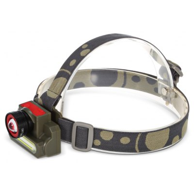 COB + Cree XPE USB Rechargeable Zooming LED Headlamp