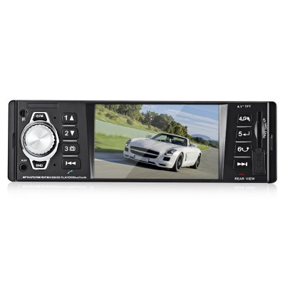 4016C  Car Stereo In-Dash MP5 PlayerFM Transmitters &amp; Players<br>4016C  Car Stereo In-Dash MP5 Player<br><br>DVD Audio Format: OGG, MP3, WMA<br>DVD Video Format: VOB, MPEG, MP4, AVI, DAT<br>Input: DC 12V<br>Installation Site: In-Dash<br>Material: Plastic, Metal, Electronic Components<br>Media Format: FLV, AVI, RM, 3GP, RMVB, VOB<br>Model: 4016C<br>OSD Language: Chinese,English,Portuguese,Russian,Spanish<br>Output: 4 x 50W<br>Package Contents: 1 x 4016C 4.1 Inch Car MP5 Player, 1 x Charging Cable, 1 x Car Speaker Cable, 1 x English User Manual, 1 x Remote Control<br>Package size (L x W x H): 21.00 x 18.00 x 8.00 cm / 8.27 x 7.09 x 3.15 inches<br>Package weight: 0.6570 kg<br>Picture format: JPEG<br>Pre-loaded Maps: No<br>Product size (L x W x H): 18.80 x 12.00 x 5.80 cm / 7.4 x 4.72 x 2.28 inches<br>Product weight: 0.4710 kg<br>Screen resolution: 440 x 240<br>Screen size: 4.1inch<br>Type: 1-DIN<br>USB/SD Audio Format: APE, WAV, OGG, MP2, FLAC, AAC, RA<br>USB/SD Picture Format: JPEG, GIF, BMP