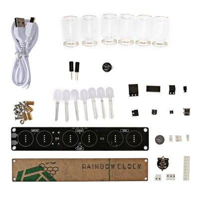 LED Color Light Glass Clock Kit