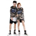 Camo Letter Couple Hoodies for sale