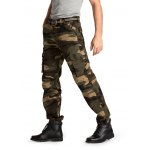 Male Loose Long Cargo Pants Leisure Green Jeans with Pockets deal