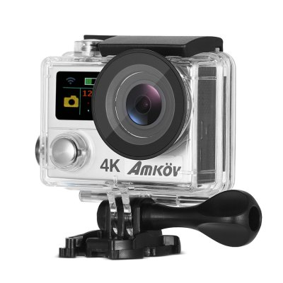 Amkov AMK - H3 4K Sports Action CameraAction Cameras<br>Amkov AMK - H3 4K Sports Action Camera<br><br>Aerial Photography: Yes<br>Anti-shake: No<br>Audio System: Built-in microphone/speaker (AAC)<br>Auto Focusing: No<br>Battery Capacity (mAh): 1050mAh<br>Battery Type: Removable<br>Brand: Amkov<br>Camera Timer: Yes<br>Charge way: USB charge by PC<br>Charging Time: 2h<br>Chipset: Sunplus 6350M<br>Chipset Name: Sunplus<br>Decode Format: H.264<br>Features: Wireless<br>Function: Loop-cycle Recording, Camera Timer<br>HDMI Output: Yes<br>Image Format : JPG<br>Image resolutions: 4032 x 3024 (12MP), 3264 x 2448 (8MP), 2592 x 1944 (5MP)<br>Language: English,French,German,Italian,Japanese,Korean,Russian,Simplified Chinese,Spanish,Traditional Chinese<br>Lens Diameter: 2.8mm<br>Loop-cycle Recording : Yes<br>Max External Card Supported: Micro SD 32G (not inluded)<br>Microphone: Built-in<br>Model: AMK - H3<br>Night vision : No<br>Package Contents: 1 x Action Camera, 1 x Waterproof Housing, 1 x Handle Bar / Pole Mount, 6 x Mount, 2 x Clip, 2 x Helmet Mount, 4 x Bandage, 4 x Tether, 2 x Adhesive, 1 x Wire Rope, 1 x Protective Backdoor, 1 x USB Ca<br>Package size (L x W x H): 19.00 x 13.00 x 10.00 cm / 7.48 x 5.12 x 3.94 inches<br>Package weight: 0.6230 kg<br>Product size (L x W x H): 6.00 x 4.00 x 3.00 cm / 2.36 x 1.57 x 1.18 inches<br>Product weight: 0.0620 kg<br>Screen resolution: 320x240<br>Screen size: 2.0inch<br>Screen type: TFT<br>Sensor: CMOS<br>Standby time: 5 days<br>Time lapse: Yes<br>Type: Sports Camera<br>Type of Camera: 4K<br>Video format: MP4, MOV, H.264<br>Video Frame Rate: 25fps,30FPS,60FPS<br>Video Output : HDMI<br>Video Resolution: 2.7K (30fps),4K (3840 x 2160)<br>Waterproof: Yes<br>Waterproof Rating : 30m<br>White Balance Mode: Auto<br>Wide Angle: 170 degree wide angle<br>WIFI: Yes<br>WiFi Distance : 10m<br>Working Time: 80min at 1080 60fps