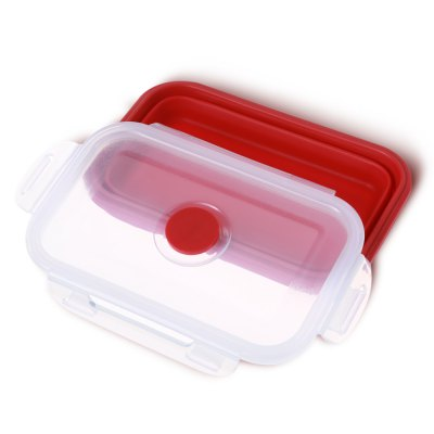 Portable Collapsible Silicone Lunch BoxDinnerware<br>Portable Collapsible Silicone Lunch Box<br><br>Package Contents: 1 x Silicone Lunch Box<br>Package size (L x W x H): 17.60 x 11.80 x 3.70 cm / 6.93 x 4.65 x 1.46 inches<br>Package weight: 0.1670 kg<br>Product size (L x W x H): 16.60 x 10.80 x 2.70 cm / 6.54 x 4.25 x 1.06 inches<br>Product weight: 0.1460 kg