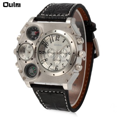 Oulm 1349 Men's Double Movt Watch