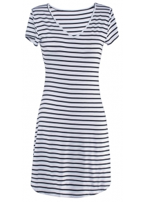 V-Neck Striped Dress for Women