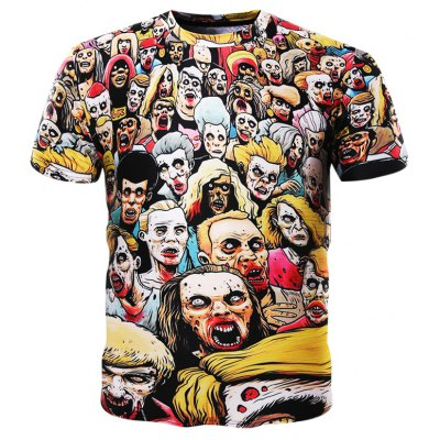 3D Zombie Short Sleeves T-shirt