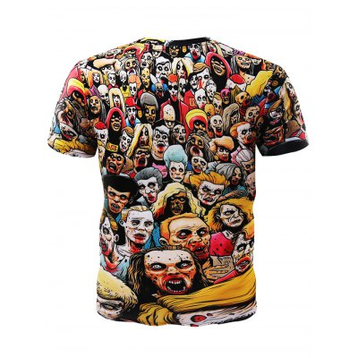 3D Zombie Short Sleeves T-shirtMens Short Sleeve Tees<br>3D Zombie Short Sleeves T-shirt<br><br>Fabric Type: Cotton, Polyester<br>Neckline: Round Neck<br>Package Content: 1 x T-shirt<br>Package size: 32.00 x 28.00 x 2.00 cm / 12.6 x 11.02 x 0.79 inches<br>Package weight: 0.3200 kg<br>Product weight: 0.2600 kg<br>Season: Summer, Spring, Autumn<br>Size: L,M,XL,XXL,XXXL<br>Sleeve Length: Short Sleeves<br>Style: Casual