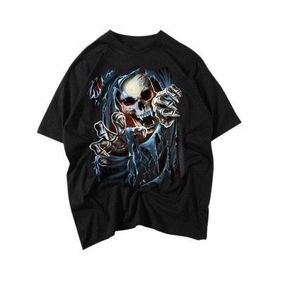 Horror Skull Punk T ShirtsMens Short Sleeve Tees<br>Horror Skull Punk T Shirts<br><br>Color: Black<br>Material: Cotton<br>Neckline: Round Neck<br>Package Content: 1 x T Shirt<br>Package size: 35.00 x 20.00 x 2.00 cm / 13.78 x 7.87 x 0.79 inches<br>Package weight: 0.2400 kg<br>Product weight: 0.1900 kg<br>Season: Summer, Spring, Autumn<br>Size: L,M,S,XL,XXL<br>Sleeve Length: Short Sleeves<br>Style: Casual