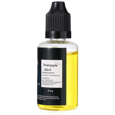 SEVEN Pineapple Flavor E-juiceE-liquid<br>SEVEN Pineapple Flavor E-juice<br><br>Accessories type: E-juice<br>Brand: SEVEN<br>E-Liquid Capacity: 30ml<br>E-Liquid Concentration: 3mg<br>E-liquid Concentration Range: 1-12mg<br>E-Liquid Flavor: Pineapple<br>E-liquid Flavor Type: Fruit series<br>Material: Liquid, Plastic<br>Package Contents: 1 x 30ml SEVEN Pineapple Flavor E-liquid<br>Package size (L x W x H): 4.00 x 4.00 x 9.00 cm / 1.57 x 1.57 x 3.54 inches<br>Package weight: 0.0550 kg<br>Product size (L x W x H): 3.00 x 3.00 x 8.00 cm / 1.18 x 1.18 x 3.15 inches<br>Product weight: 0.0450 kg<br>Type: Electronic Cigarettes Accessories