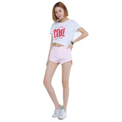 Pink Jean Shorts for Women