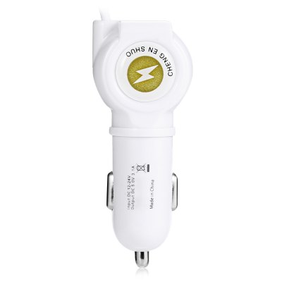 3.1A 3-in-1 USB Car ChargerCar Charger<br>3.1A 3-in-1 USB Car Charger<br><br>Apply To Car Brand: Universal<br>Cable length: 103CM<br>Input ( Car Charger ): 12V<br>Output ( Car Charger ): 5V / 3.1A<br>Package Contents: 1 x 3-in-1 Car Charger<br>Package size (L x W x H): 19.00 x 10.50 x 4.00 cm / 7.48 x 4.13 x 1.57 inches<br>Package weight: 0.0880 kg<br>Product size (L x W x H): 8.00 x 3.20 x 1.90 cm / 3.15 x 1.26 x 0.75 inches<br>Product weight: 0.0420 kg<br>Working Temp.(?): 0 Deg.C - 40 Deg.C