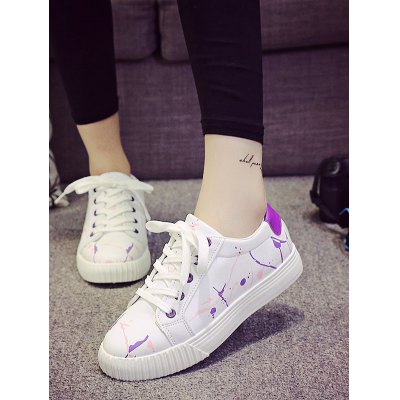 Graffiti White TrainersWomens Sneakers<br>Graffiti White Trainers<br><br>Color: Green,Purple,Red<br>Contents: 1 x Pair of Shoes<br>Materials: PU, Rubber<br>Package Size ( L x W x H ): 28.00 x 16.50 x 10.00 cm / 11.02 x 6.5 x 3.94 inches<br>Package Weights: 0.661kg<br>Size: 36,37,38,39,40<br>Type: Skateboarding Shoes