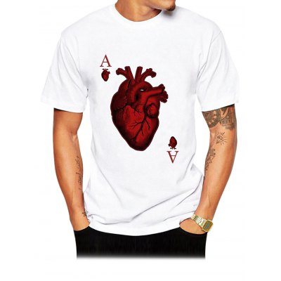 Red Heart Poker T Shirts