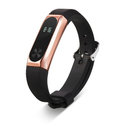 14mm Rubber Strap Metal Case for Xiaomi Miband 2