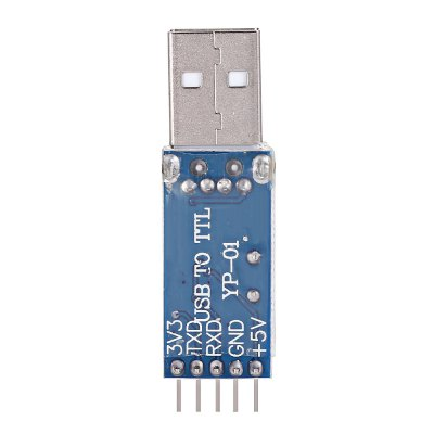 PL2303HX 3.3V / 5V USB to TTL Converter Adapter ModuleOther Accessories<br>PL2303HX 3.3V / 5V USB to TTL Converter Adapter Module<br><br>Package Contents: 1 x PL2303HX USB to TTL Converter Adapter Module, 1 x Wire<br>Package Size(L x W x H): 8.00 x 4.00 x 3.00 cm / 3.15 x 1.57 x 1.18 inches<br>Package weight: 0.0200 kg<br>Product Size(L x W x H): 5.00 x 1.00 x 0.50 cm / 1.97 x 0.39 x 0.2 inches<br>Product weight: 0.0070 kg