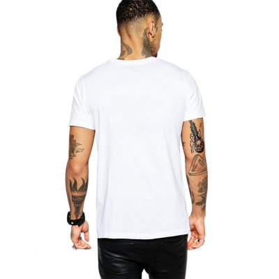 Microphone Printed T ShirtsMens Short Sleeve Tees<br>Microphone Printed T Shirts<br><br>Color: White<br>Fabric Type: Polyester<br>Neckline: Round Neck<br>Package Content: 1 x T Shirt<br>Package size: 35.00 x 20.00 x 2.00 cm / 13.78 x 7.87 x 0.79 inches<br>Package weight: 0.2200 kg<br>Product weight: 0.1700 kg<br>Season: Summer, Spring, Autumn<br>Size: L,M,S,XL,XXL,XXXL<br>Sleeve Length: Short Sleeves<br>Style: Casual