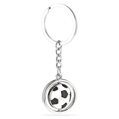 Football Style Hanging Pendant Keyring - 3.2 inch
