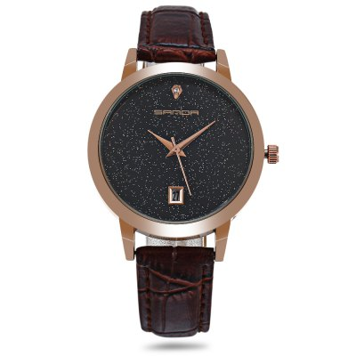 Sanda P194 Starry Dial Women Quartz WatchWomens Watches<br>Sanda P194 Starry Dial Women Quartz Watch<br><br>Available Color: Black,Brown,Pink,Purple,Red,White<br>Band material: Leather<br>Band size: 24.00 x 1.50 cm / 9.45 x 0.59 inches<br>Brand: Sanda<br>Case material: Alloy<br>Clasp type: Pin buckle<br>Dial size: 3.50 x 3.50 x 0.90 cm / 1.38 x 1.38 x 0.35 inches<br>Display type: Analog<br>Movement type: Quartz watch<br>Package Contents: 1 x Watch<br>Package size (L x W x H): 25.00 x 4.50 x 1.90 cm / 9.84 x 1.77 x 0.75 inches<br>Package weight: 0.0650 kg<br>Product size (L x W x H): 24.00 x 3.50 x 0.90 cm / 9.45 x 1.38 x 0.35 inches<br>Product weight: 0.0350 kg<br>Shape of the dial: Round<br>Special features: Date<br>Watch style: Casual, Fashion<br>Watches categories: Female table