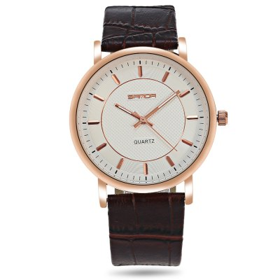 Sanda P193 Leather Couple Quartz WatchesCouples Watches<br>Sanda P193 Leather Couple Quartz Watches<br><br>Band material: Leather<br>Brand: Sanda<br>Case material: Alloy<br>Clasp type: Pin buckle<br>Display type: Analog<br>Movement type: Quartz watch<br>Package Contents: 1 x Pair of Watches, 1 x Pair of Watches<br>Package size (L x W x H): 25.00 x 4.50 x 1.50 cm / 9.84 x 1.77 x 0.59 inches, 25.00 x 4.50 x 1.50 cm / 9.84 x 1.77 x 0.59 inches<br>Package weight: 0.0860 kg<br>Shape of the dial: Round<br>The female dial dimension (L x W x H): 2.50 x 2.50 x 0.50 cm / 0.98 x 0.98 x 0.20 inch, 2.50 x 2.50 x 0.50 cm / 0.98 x 0.98 x 0.20 inch<br>The female size (L x W x H): 21.00 x 2.50 x 0.50 cm / 8.27 x 0.98 x 0.20 inch, 21.00 x 2.50 x 0.50 cm / 8.27 x 0.98 x 0.20 inch<br>The female watch band dimension (L x W): 21.00 x 1.30 cm / 8.27 x 0.51 inch, 21.00 x 1.30 cm / 8.27 x 0.51 inch<br>The female watch weight: 0.019g, 0.019g<br>The male dial dimension (L x W x H): 3.50 x 3.50 x 0.50 cm / 1.38 x 1.38 x 0.20 inch, 3.50 x 3.50 x 0.50 cm / 1.38 x 1.38 x 0.20 inch<br>The male watch band dimension (L x W): 24.00 x 1.80 cm / 9.45 x 0.71 inch, 24.00 x 1.80 cm / 9.45 x 0.71 inch<br>The male watch size (L x W x H): 24.00 x 3.50 x 0.50 cm / 9.45 x 1.38 x 0.20 inch, 24.00 x 3.50 x 0.50 cm / 9.45 x 1.38 x 0.20 inch<br>The male watch weight: 0.035g, 0.035g<br>Watch color: Brown and White, Brown and Black, Black and Gold, Black and Silver, White and Black<br>Watch style: Casual, Fashion<br>Watches categories: Couple tables<br>Water resistance : Life water resistant
