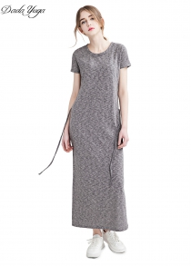 Dadayuga Solid Color Long Dress for Women