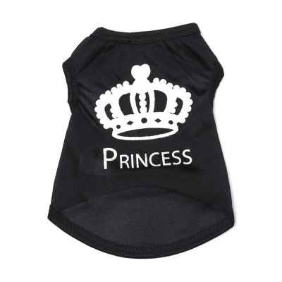 Crown Cotton Pet Dog Clothes Tee