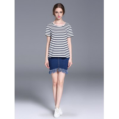 Frmz short sleeve striped women t-shirt