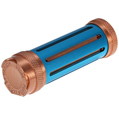 Original VAPJOY FUFDA PRO Mech Mod Copper EditionMechanical Mods<br>Original VAPJOY FUFDA PRO Mech Mod Copper Edition<br><br>510 Connector Type: Spring Loaded<br>Accessories type: MOD<br>Available Color: Black,Blue,Champagne Gold,Red<br>Battery Cover Type: Screwed<br>Battery Form Factor: 18650<br>Battery Quantity: 1pc ( not included )<br>Brand: VAPJOY<br>Material: Copper<br>Mod: Mechanical Mod<br>Model: FUFDA PRO<br>Package Contents: 1 x VAPJOY FUFDA PRO Mech Mod Copper Edition<br>Package size (L x W x H): 12.45 x 6.13 x 3.47 cm / 4.9 x 2.41 x 1.37 inches<br>Package weight: 0.205 kg<br>Product size (L x W x H): 8.37 x 2.81 x 2.81 cm / 3.3 x 1.11 x 1.11 inches<br>Product weight: 0.136 kg